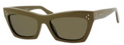 Celine CL 41802/S Sunglasses Sunglasses - 0EL0 Green / Brown Lens