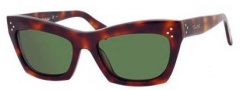 Celine CL 41802/S Sunglasses Sunglasses - 005L Havana / Green Lens