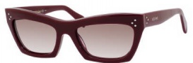 Celine CL 41802/S Sunglasses Sunglasses - 0LHF Burgundy / Brown Gradient Lens