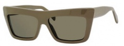 Celine CL 41804/S Sunglasses Sunglasses - 0SLO Khaki / Brown Lens