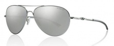 Smith Optics Audible Sunglasses Sunglasses - Matte Silver / Chromapop Polarized Platinum