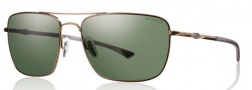 Smith Optics Nomad Sunglasses Sunglasses - Matte Gold / Chromapop Polarized Gray Green