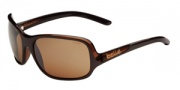 Bolle Kassia Sunglasses Sunglasses - 11750 Shiny Chocolate / Translucent Brown / Polarized Sandstone Gun