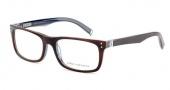 John Varvatos V330 Eyeglasses Eyeglasses - Amber / Navy