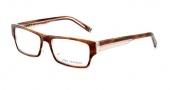 John Varvatos V332 Eyeglasses Eyeglasses - Amber Tortoise