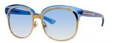 Gucci 4241/S Sunglasses Sunglasses - 0EYY Gold / Blue Sapphire (ST Azure Gradient Lens)