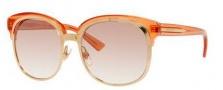 Gucci 4241/S Sunglasses Sunglasses - 0EYU Gold / Rose Beige (FS Rose Smoke Mirror Lens)