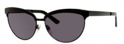 Gucci 4249/S Sunglasses Sunglasses - 0006 Shiny Black (BN Dark Gray Lens)
