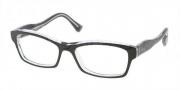 Miu Miu MU 02IV Eyeglasses Eyeglasses - 2AF1O1 Black / Crystal