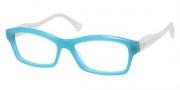 Miu Miu MU 02IV Eyeglasses Eyeglasses - PC11O1 Opal Blue / White