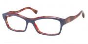 Miu Miu MU 02IV Eyeglasses Eyeglasses - PC51O1 Top Blue / Red Havana