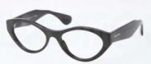 Miu Miu MU 03MV Eyeglasses Eyeglasses - 1AB1O1 Black