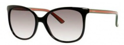 Gucci 3649/S Sunglasses Sunglasses - 051N Shiny Black (YR Green Gradient Lens)
