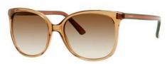 Gucci 3649/S Sunglasses Sunglasses - 0170 Transparent Honey (CC Brown Gradient Lens)