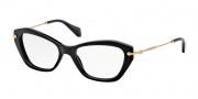 Miu Miu MU 04LV Eyeglasses Eyeglasses - 1AB1O1 Black