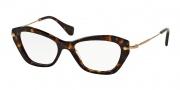 Miu Miu MU 04LV Eyeglasses Eyeglasses - 2AU1O1 Havana