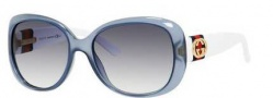 Gucci 3644/S Sunglasses Sunglasses - 00YD Azure (JJ Gray Gradient Lens)