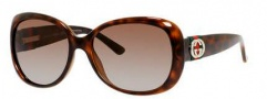 Gucci 3644/S Sunglasses Sunglasses - 0DWJ Havana (LA Brown Polarized Lens)