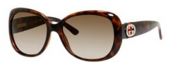 Gucci 3644/S Sunglasses Sunglasses - 0DWJ Havana (HA Brown Gradient Lens)