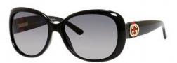 Gucci 3644/S Sunglasses Sunglasses - 0D28 Shiny Black (WJ Gradient Shaded Polarized Lens)