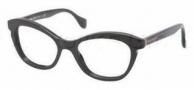 Miu Miu MU 07LV Eyeglasses Eyeglasses - 1AB1O1 Black