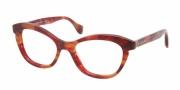 Miu Miu MU 07LV Eyeglasses Eyeglasses - GAT1O1 Red Havana