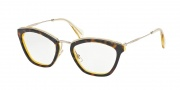 Miu Miu MU 55MV Eyeglasses Eyeglasses - PDK1O1 Top Havana / Yellow Transparent