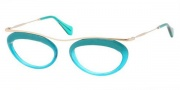 Miu Miu MU 56MV Eyeglasses Eyeglasses - DG41O1 Turqoise / Transparent Turquoise
