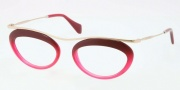 Miu Miu MU 56MV Eyeglasses Eyeglasses - DG51O1 Red / Transparent Pink