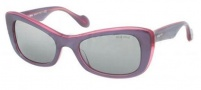 Miu Miu MU 01OS Sunglasses Sunglasses - MA81B0 Top Violet / Grey Silver Mirror Gradient