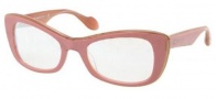 Miu Miu MU 01OS Sunglasses Sunglasses - LAJ1B2 Top Pink / Powder / Nacre Lens