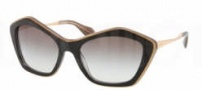 Miu Miu MU 02OS Sunglasses Sunglasses - KAY0A7 Top Black / Opal / Gray Gradient