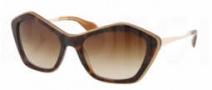 Miu Miu MU 02OS Sunglasses Sunglasses - KAZ6S1 Top Havana / Opal / Brown Gradient