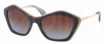 Miu Miu MU 02OS Sunglasses Sunglasses - KAU0A4 Top Blue / Opal / Brown Gradient Lens