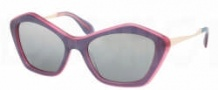Miu Miu MU 02OS Sunglasses Sunglasses - MA81B0 Top Purple / Grey Silver Mirror Gradient Lens