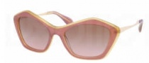 Miu Miu MU 02OS Sunglasses Sunglasses - MA95P1 Top Pink / Brown Gradient Lens