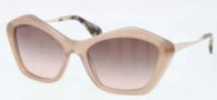 Miu Miu MU 02OS Sunglasses Sunglasses - MAR1E2 Opal Mink / Pink Gradient Lens