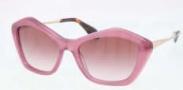 Miu Miu MU 02OS Sunglasses Sunglasses - PC94P1 Opal Pink / Pink Gradient Lens