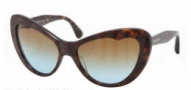 Miu Miu MU 04OS Sunglasses Sunglasses - 2AU1F0 Havana / Brown Gradient Lens