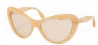 Miu Miu MU 04OS Sunglasses Sunglasses - KAS9N1 Orange Glitter / Brown Lens