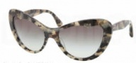 Miu Miu MU 04OS Sunglasses Sunglasses - MAM0A7 Grey Horn / White Havana