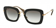 Miu Miu MU 07OS Sunglasses Sunglasses - KAY0A7 Top Black on Opal / Gray Gradient Lens