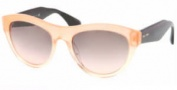 Miu Miu MU 09OS Sunglasses Sunglasses - QFI1E2 Glitter Orange Gradient Pink Lens