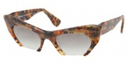 Miu Miu MU 10OS Sunglasses Sunglasses - MAN0A7 Yellow Havana Marble / Grey Gradient Lens