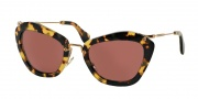 Miu Miu MU 10NS Sunglasses Sunglasses - 7S00A0 Yellow Havana / Bordeaux
