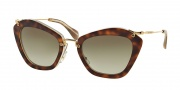 Miu Miu MU 10NS Sunglasses Sunglasses - HAH1X1 Havana/Beige/Opal / Brown Gradient