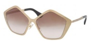Miu Miu MU 53NS Sunglasses Sunglasses - JAZ0A6 Brushed Gold / Brown Gradient Lens