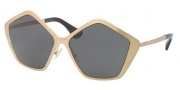 Miu Miu MU 53NS Sunglasses Sunglasses - JAZ1A1 Brushed Gold / Gray Lens