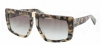 Miu Miu MU 05OS Sunglasses Sunglasses - MAM0A7 Grey Horn / White Havana / Gray Gradient Lens