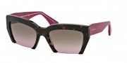 Miu Miu MU 11OS Sunglasses Sunglasses - 2AU5P1 Havana / Pink Gradient